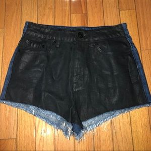 Urban outfitters coated high rise cheeky shorts